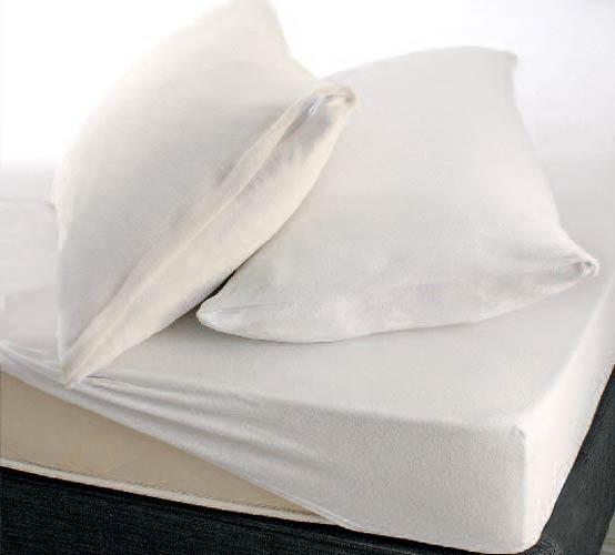 Κάλυμμα Στρώματος Υπέρδιπλο (Σετ) Rythmos Frotte Λευκό