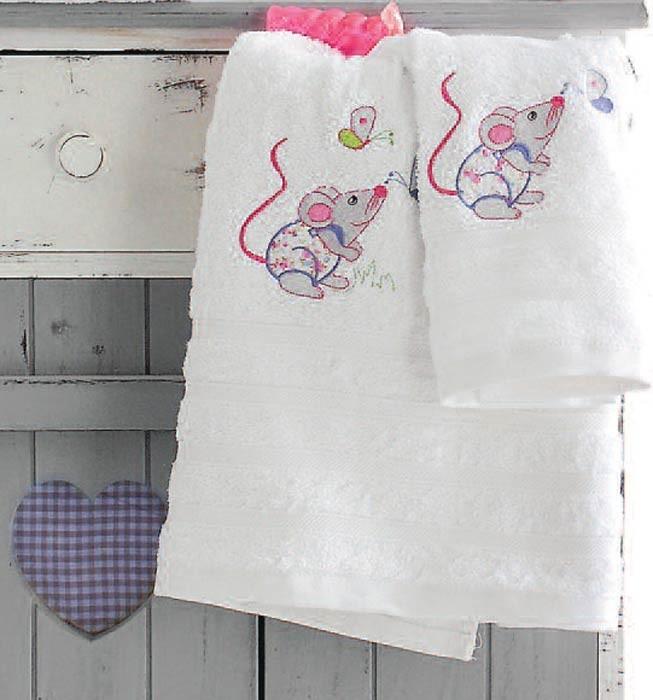 Βρεφικές Πετσέτες (Σετ 2τμχ) Rythmos Mouse Pink