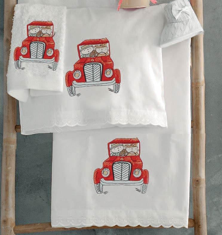 Σεντόνια Κούνιας (Σετ) Rythmos Red Car