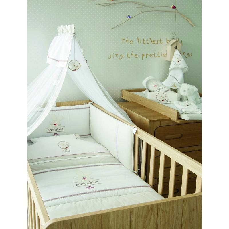 Κουβέρτα Πικέ Κούνιας Baby Oliver Peek-a-boo 631
