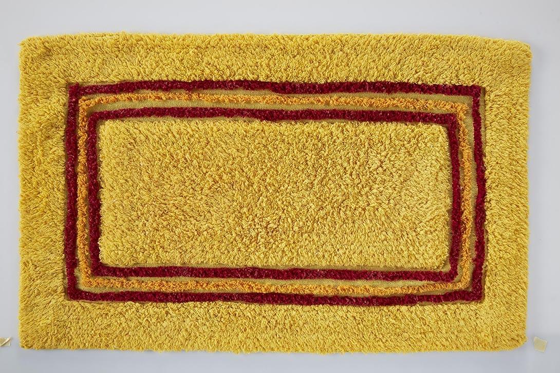 Πατάκι Μπάνιου (50x80) White Egg Κάδρο Β Κίτρινο