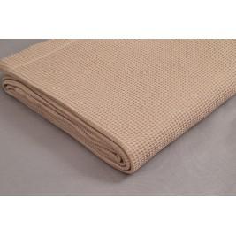 Κουβέρτα Πικέ Μονή Vesta Brown