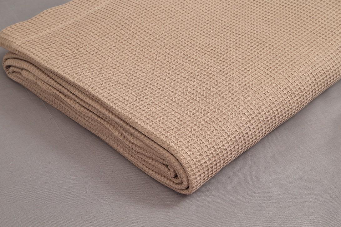 Κουβέρτα Πικέ Μονή Vesta 1052 Brown