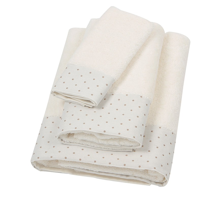 Πετσέτα Χεριών (30x50) Laura Ashley Polka Border Ivory