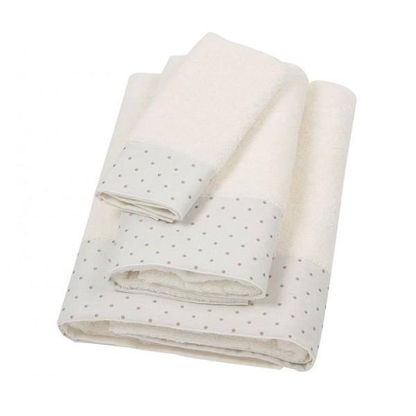 Πετσέτα Προσώπου (50x100) Laura Ashley Polka Border Ivory