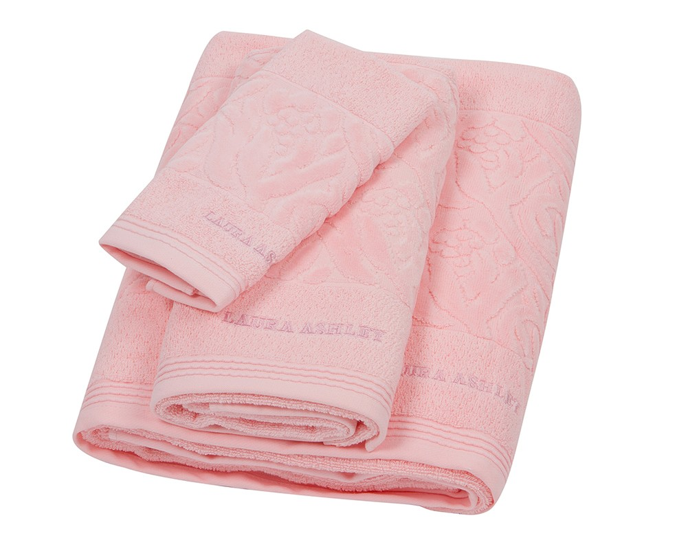 Πετσέτα Προσώπου (50x100) Laura Ashley Velvet Tulip Pink