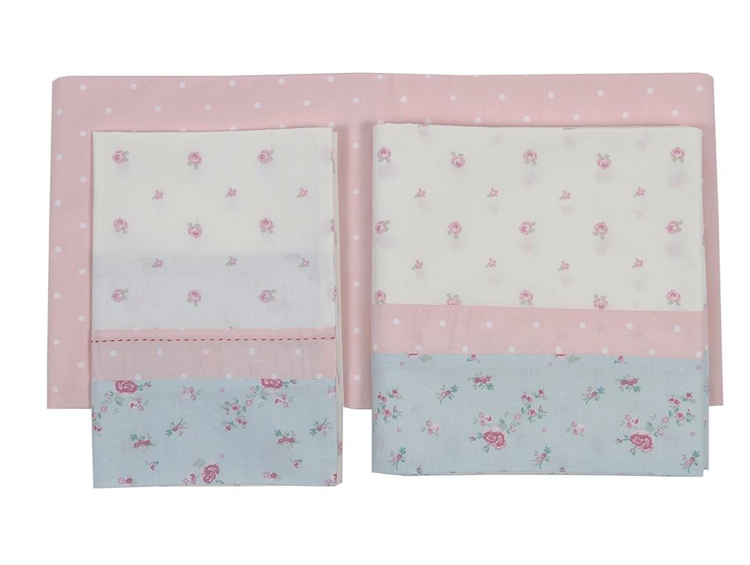 Σεντόνια Κούνιας (Σετ) Laura Ashley Floral Patch home   βρεφικά   σεντόνια βρεφικά
