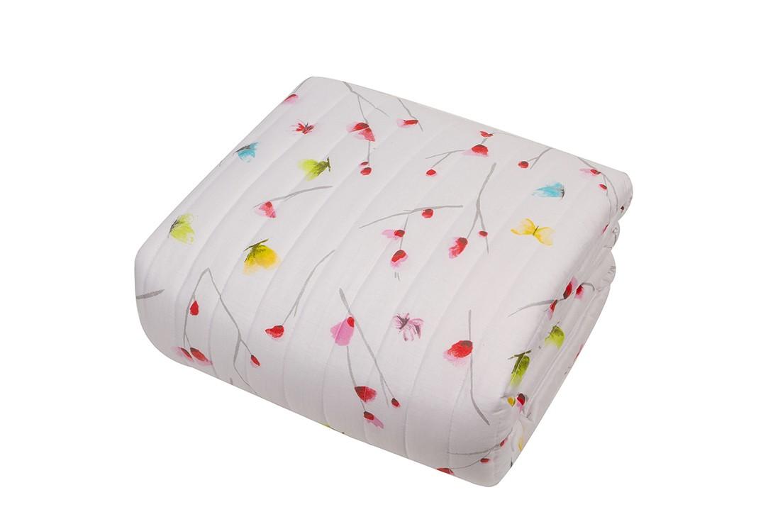 Κουβερλί Υπέρδιπλο Linen Case Butterflies