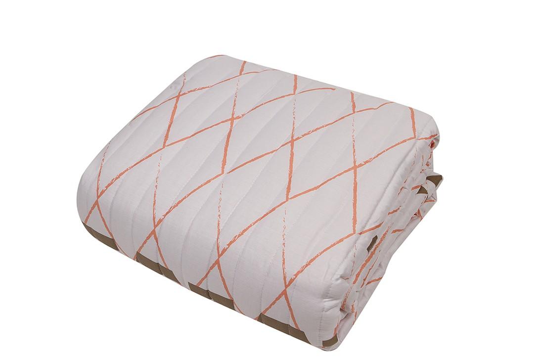 Κουβερλί Υπέρδιπλο Linen Case Geometric