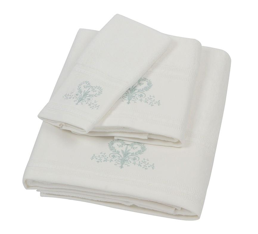 Πετσέτα Προσώπου Κεντητή (50×90) Laura Ashley Josette Ivory