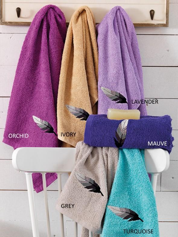 Πετσέτες Μπάνιου (Σετ 3τμχ) Palamaiki Feather
