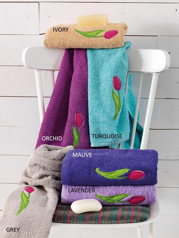 Πετσέτες Μπάνιου (Σετ 3τμχ) Palamaiki Tulip