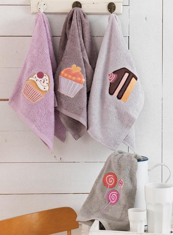 Πετσέτες Κουζίνας (Σετ 4τμχ) Palamaiki Cakes 50947