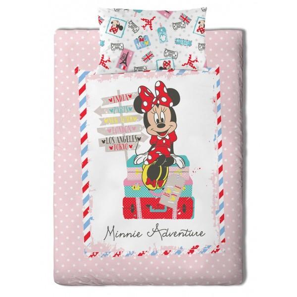 Κουβερλί Μονό (Σετ) Palamaiki Disney Minnie Travel