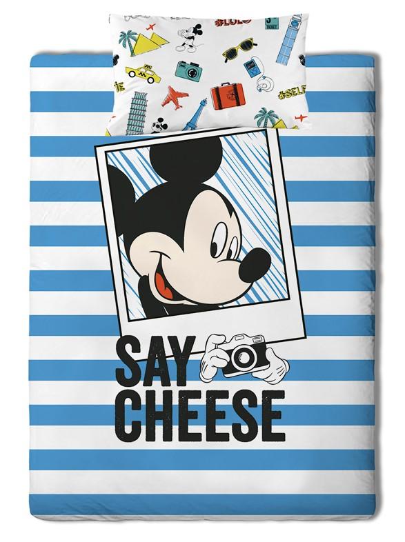 Σεντόνια Μονά (Σετ) Palamaiki Disney Mickey Travel Χωρίς Λάστιχο Χωρίς Λάστιχο