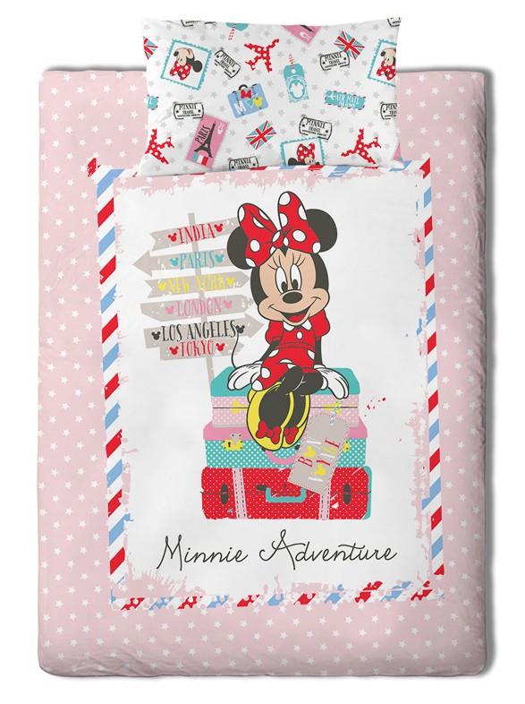Σεντόνια Μονά (Σετ) Palamaiki Disney Minnie Travel Χωρίς Λάστιχο Χωρίς Λάστιχο