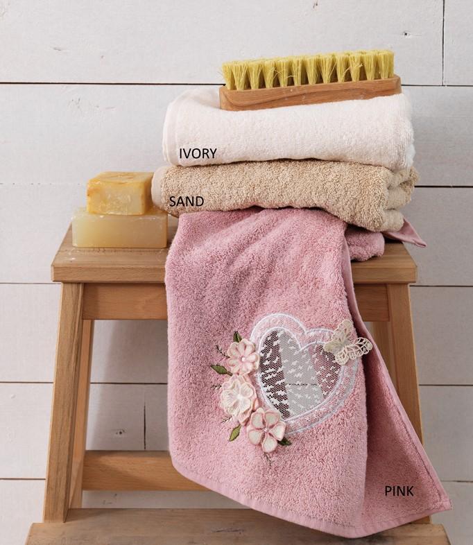 Πετσέτες Μπάνιου (Σετ 3τμχ) Palamaiki Heart