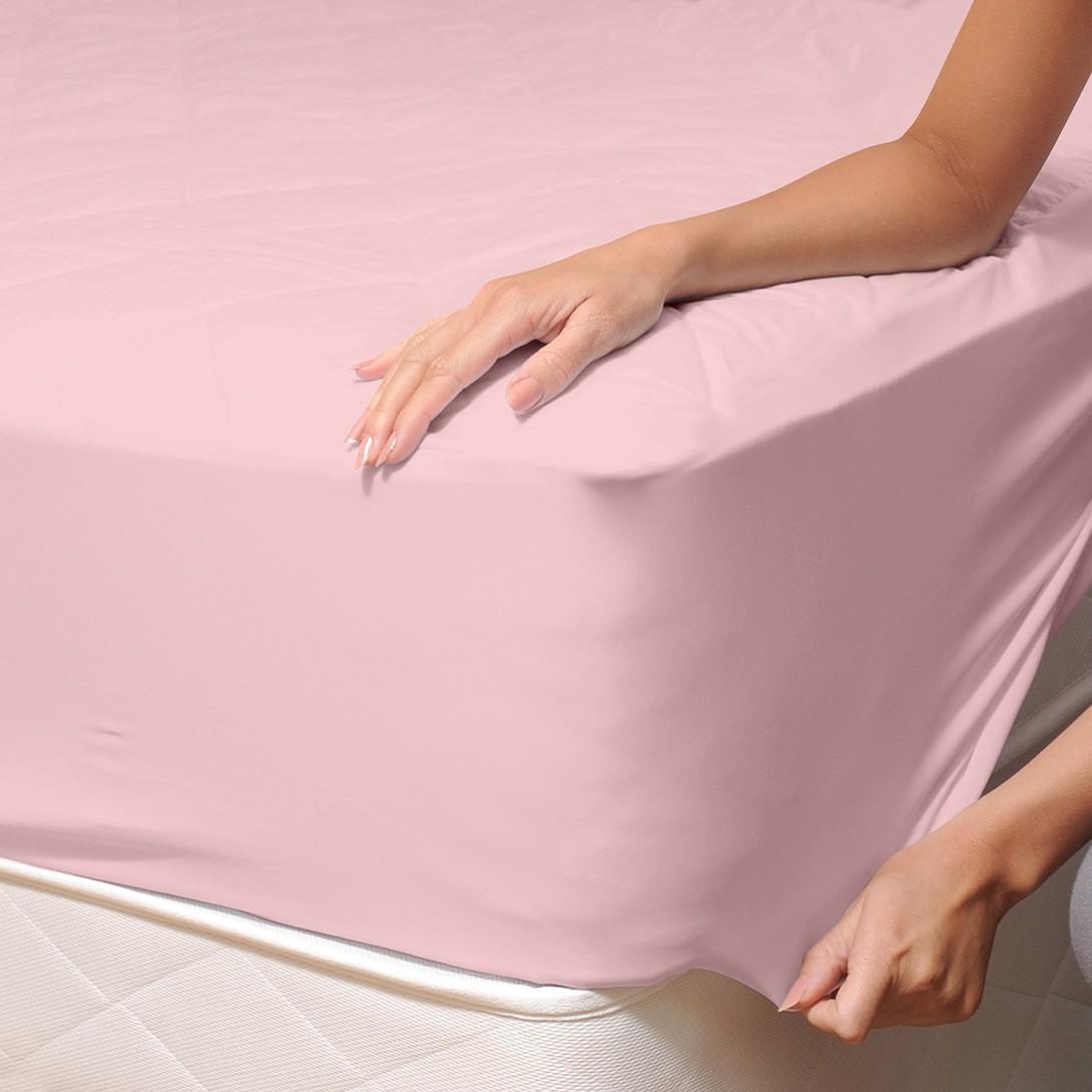 Σεντόνι Μονό Με Λάστιχο Maison Blanche 11115 Ροζ