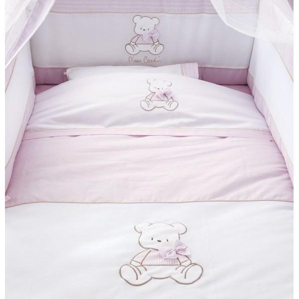 Σεντόνια Κούνιας (Σετ) Omega Home Bear Pink 136