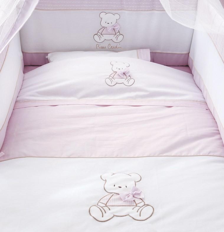 Σεντόνια Λίκνου (Σετ) Omega Home Bear Pink 136