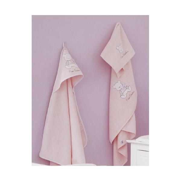 Βρεφικές Πετσέτες (Σετ 2τμχ) Pierre Cardin Bear Pink 136