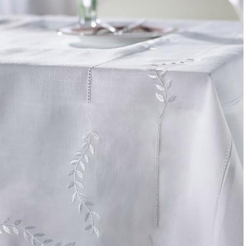 Τραπεζομάντηλο 12 Ατόμων (160x310) Gofis Home Leaf 319 White