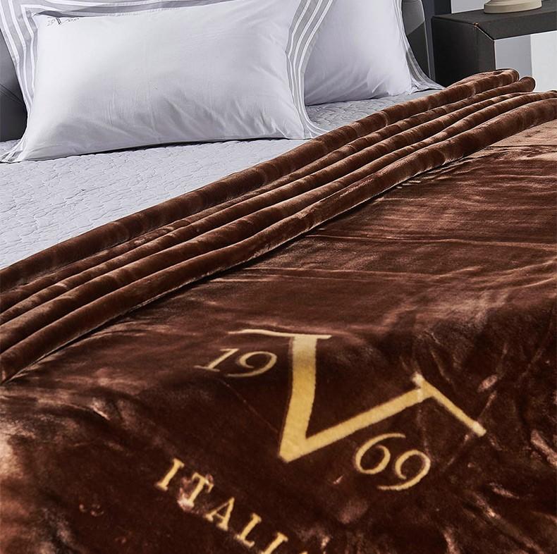 Κουβέρτα Βελουτέ Υπέρδιπλη V19.69 Velluto Caffe