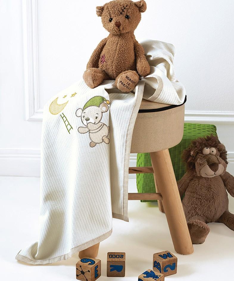 Κουβέρτα Πικέ Κούνιας Kentia Baby Heaven