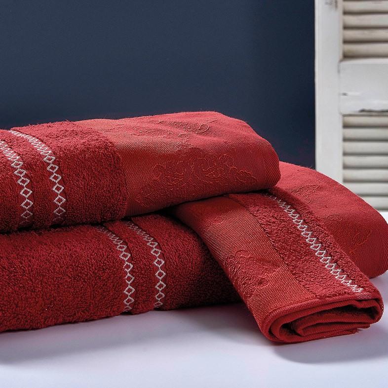 Πετσέτες Μπάνιου (Σετ 3τμχ) Sb Home Cronos