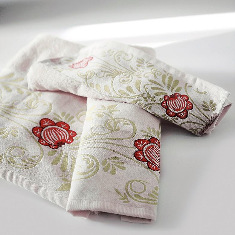 Πετσέτες Μπάνιου (Σετ 3τμχ) Sb Home Venus Cream