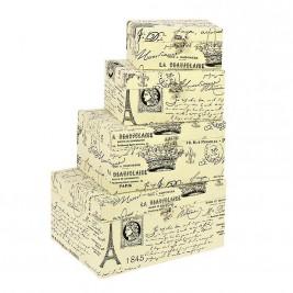 Κουτιά Αποθήκευσης (Σετ 4τμχ) InArt 3-70-776-0035