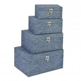 Κουτιά Αποθήκευσης (Σετ 4τμχ) InArt 3-70-776-0036