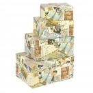 Κουτιά Αποθήκευσης (Σετ 4 τμχ) InArt 3-70-776-0037