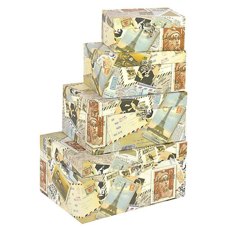 Κουτιά (Σετ 4τμχ) InArt Stamps Cubes 3-70-776-0037