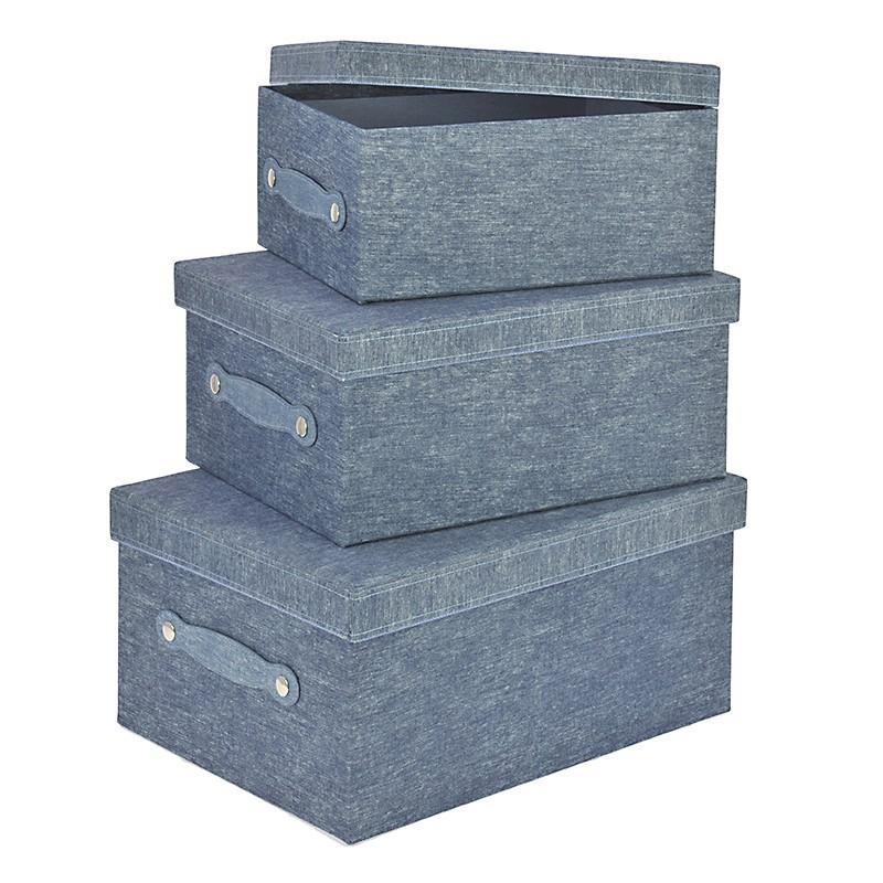 Κουτιά Αποθήκευσης (Σετ 3τμχ) InArt 3-70-776-0040