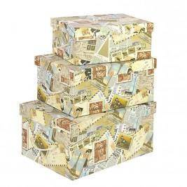 Κουτιά Αποθήκευσης (Σετ 3τμχ) InArt 3-70-776-0041