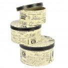 Κουτιά Αποθήκευσης (Σετ 3 τμχ) InArt 3-70-776-0043
