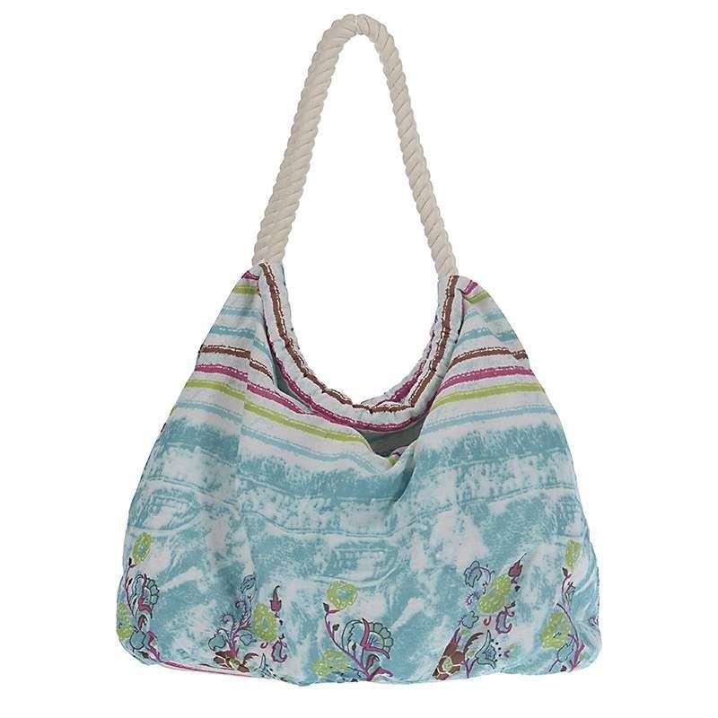 Τσάντα Παραλίας InArt Blue/Fuchsia Print 5-42-346-0011