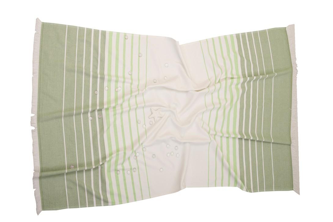 Πετσέτα Θαλάσσης-Παρεό Anna Riska Mykonos Green
