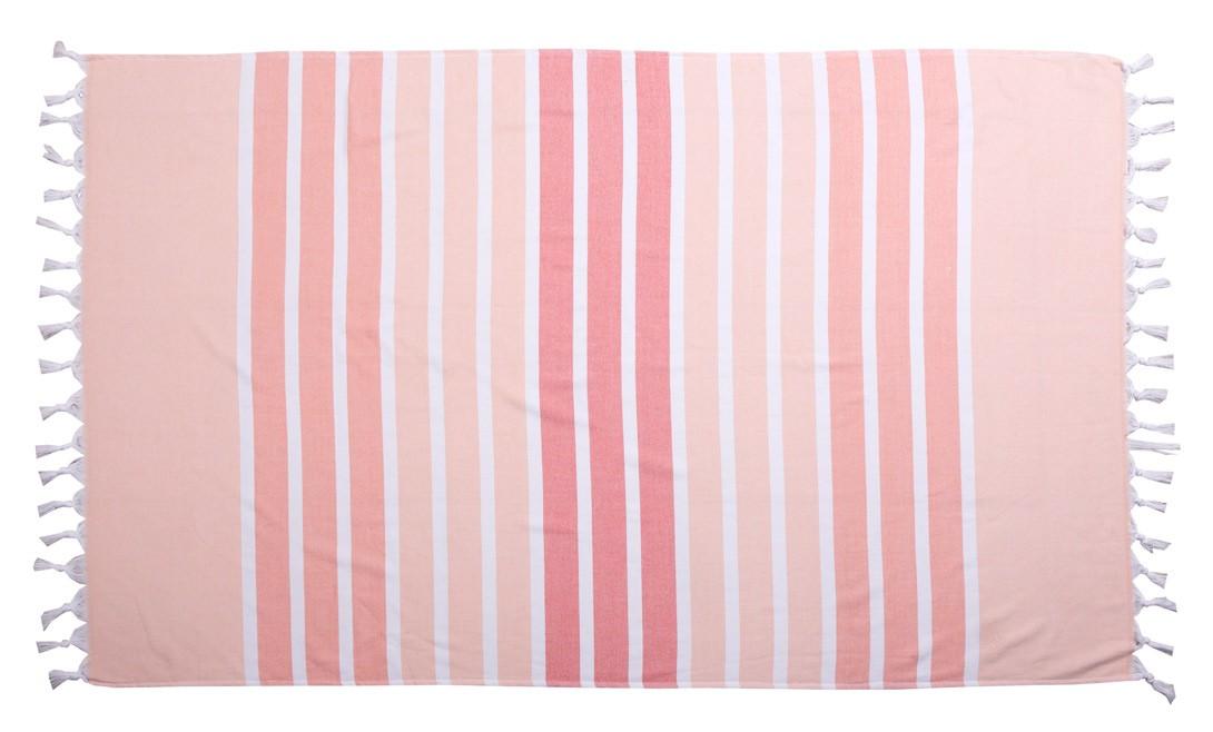 Πετσέτα Θαλάσσης-Παρεό Anna Riska Santorini Pink