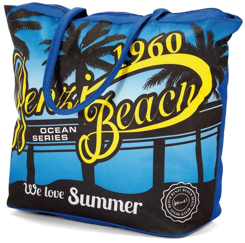 Τσάντα Παραλίας Benzi 4586 Blue home   θαλάσσης   τσάντες παραλίας
