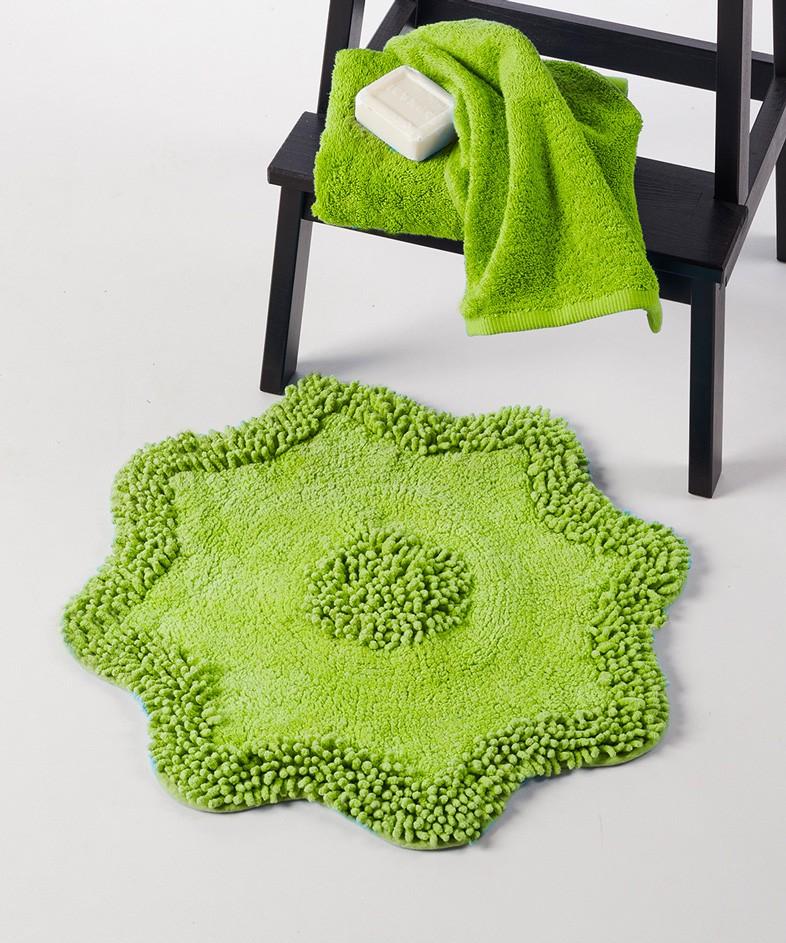 Πατάκι Μπάνιου (55×55) Kentia Bath Flora Kiwi
