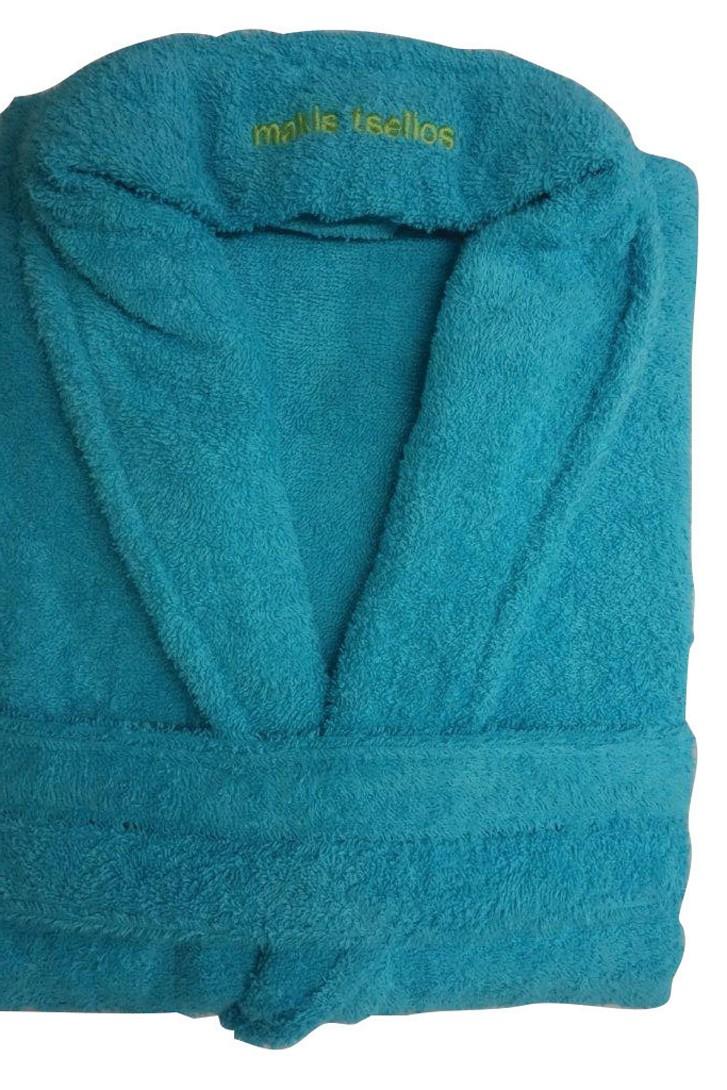 Μπουρνούζι Makis Tselios Bath Turquoise SMALL SMALL