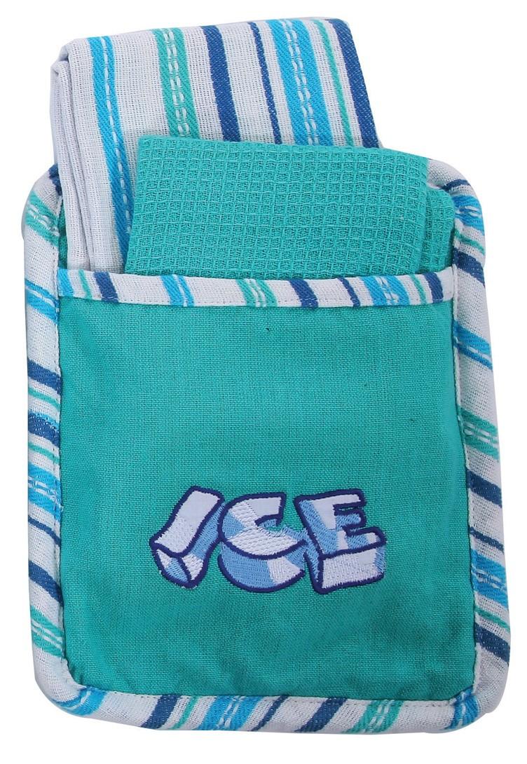 Σετ Κουζίνας 3τμχ Viopros Πόκετ Ice Πράσινο