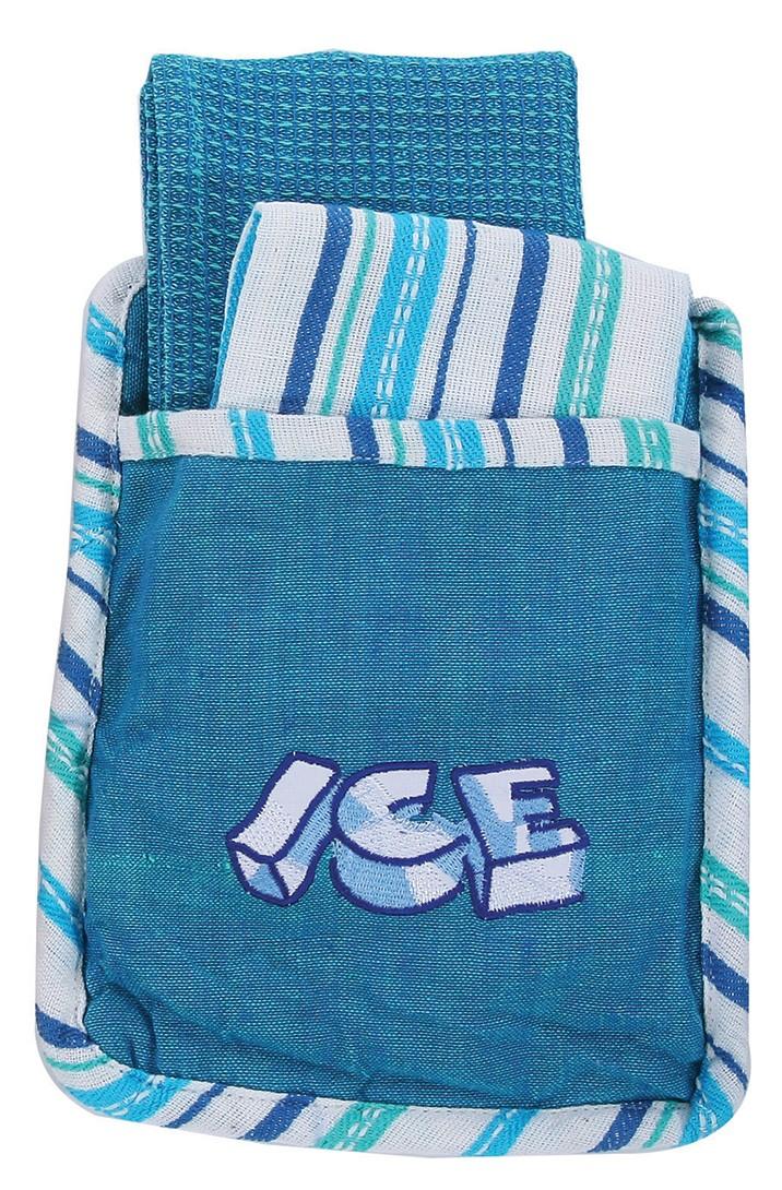 Σετ Κουζίνας 3τμχ Viopros Πόκετ Ice Μπλε