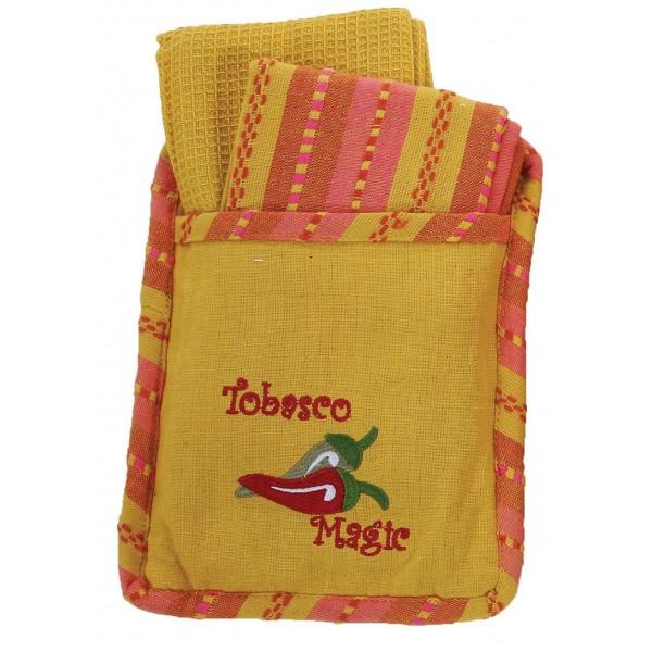 Σετ Κουζίνας 3τμχ Viopros Πόκετ Tobasco Κίτρινο