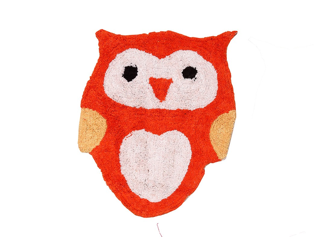 Παιδικό Πατάκι (40x55) Viopros Κουκουβάγια Πορτοκαλί