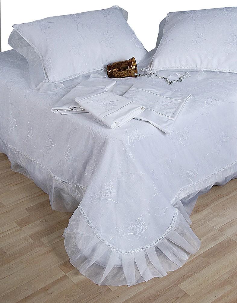 Νυφικό Κουβερλί (Σετ) Viopros Wedding 1012 home   μόδα γάμου   κουβερλί νυφικά