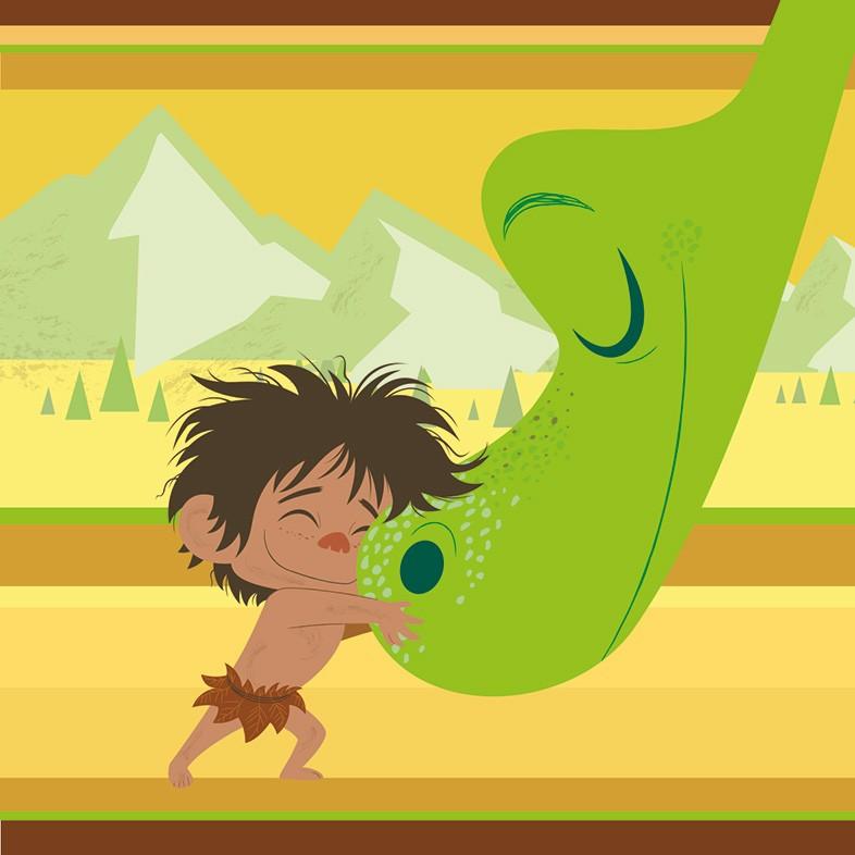 Παιδικό Πετσετάκι Viopros Dinosaur 1