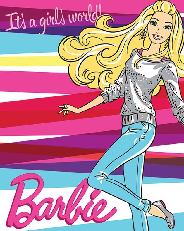 Κουβέρτα Fleece Κούνιας Viopros Barbie 50